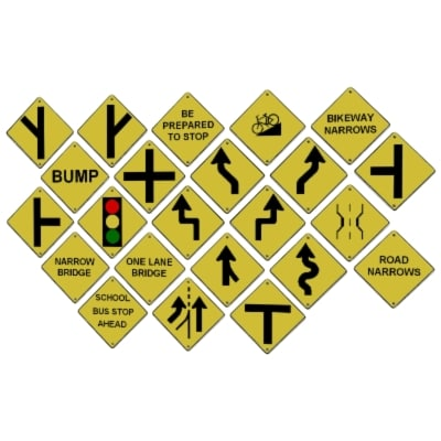 3ds max road street signs