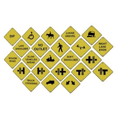 road street signs 3d model