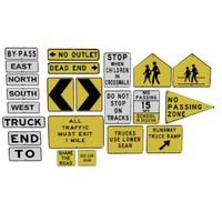 road street signs 3d max