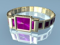 gold watch 3d 3ds