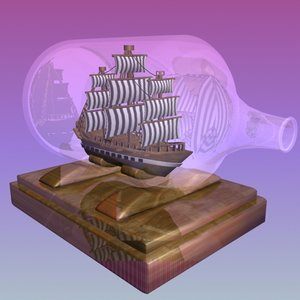 ship bottle 3d max