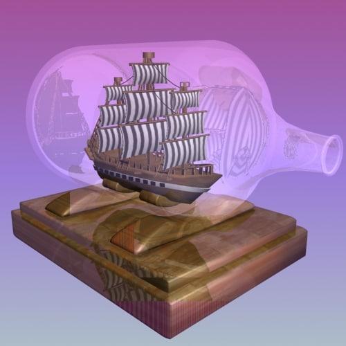 ship bottle 3d max