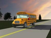 school bus 3d dwg
