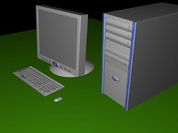 set computers illumni desktop 3d max