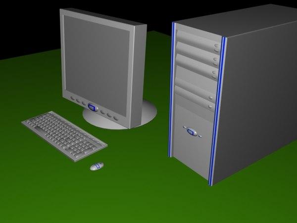 set computers illumni desktop 3d max