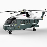 marine helicopter chopper 3d model