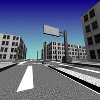 streets city 3d max