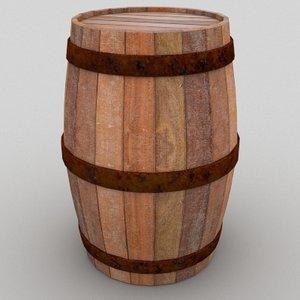 3d model wine barrel
