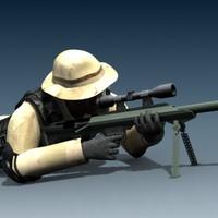 colt m99 sniper 3d model