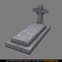 tomb stone 3d model