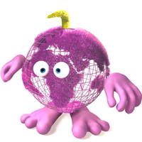 3d globe dude