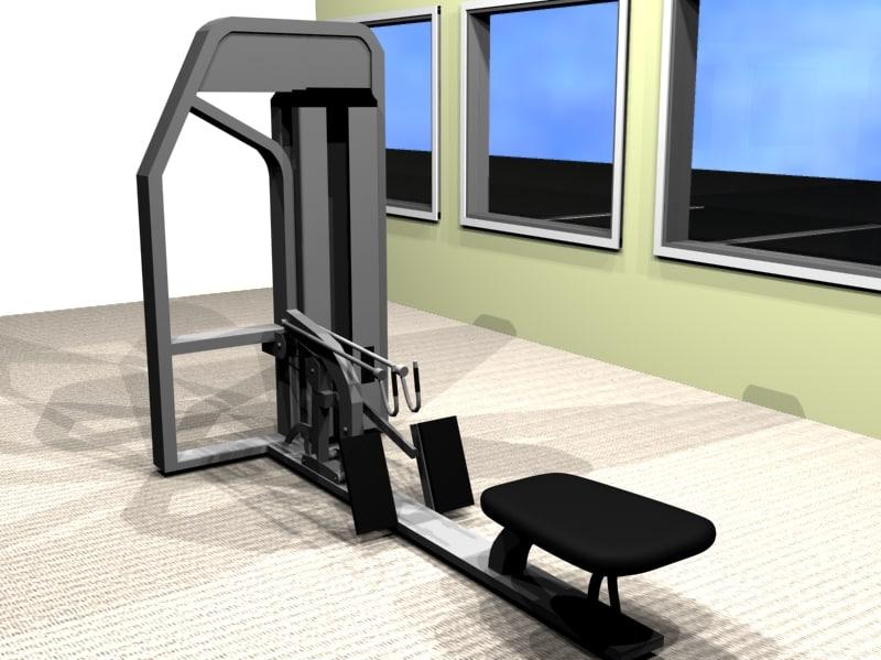 compound row exercise machine 3d model