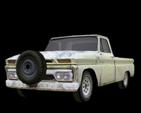 chevy pickup truck old 3d model