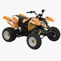 polaris 500 atv quad 3d model