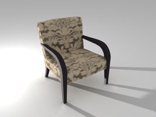 3d model chair flora smania
