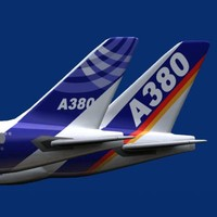 airbus a380-800 house color 3d model