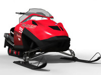polaris fusion900 snowmobile 3d model