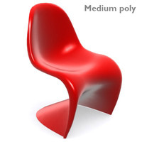 chair classic verner panton 3d model