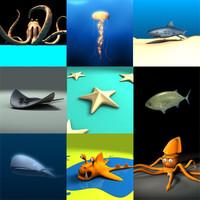 ocean creature fish 3d model