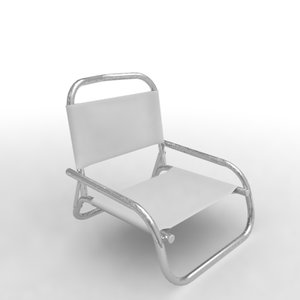 folding chair 3d 3ds