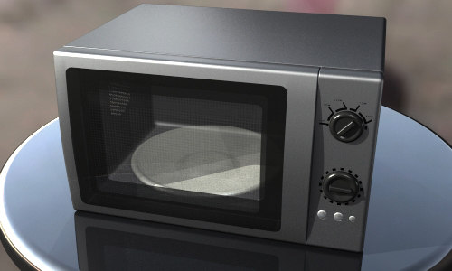 3ds max silver microwave oven