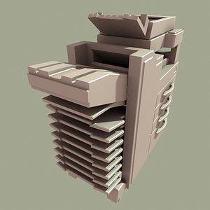 photocopy machine 3d model