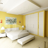 bedrom interior house 3d max