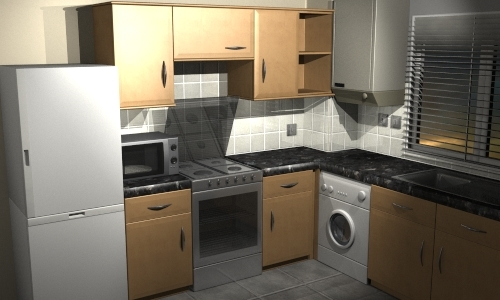 kitchen room 3d model