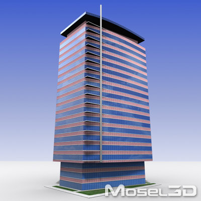 3d model tall office building
