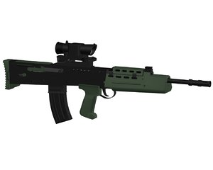 british army l85-a2 rifle weapons 3d model