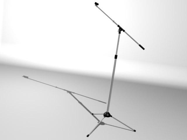 tri-leg boom stand mic 3d max