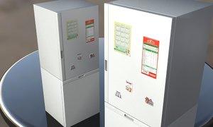 3d fridge freezer model