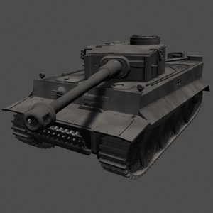 panzer vi tiger tank 3d model