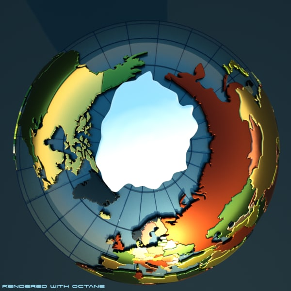 geopolitical planet globe earth 3d model