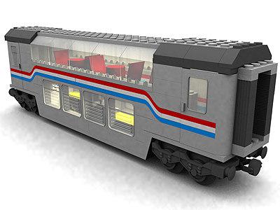 max lego real passenger wagon