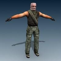 IRAQI terrorist_mesh_max5_gmax_3ds