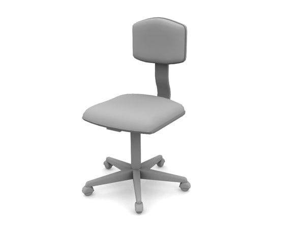 desk chair 3d obj