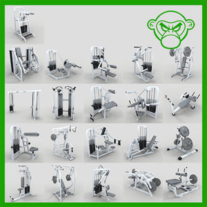 weight machine 3d max