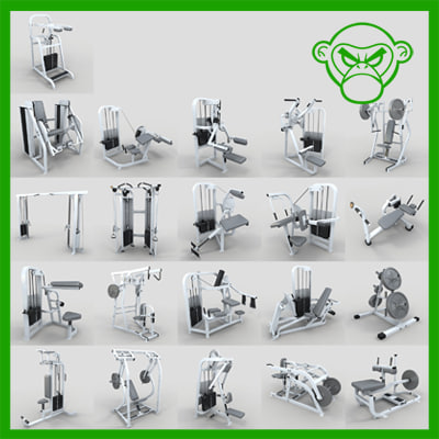 weight machine 3d max