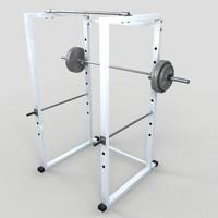 gym equipment machine weight 3d model