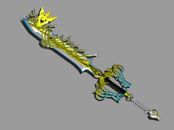 ultima weapon keyblade 3d model