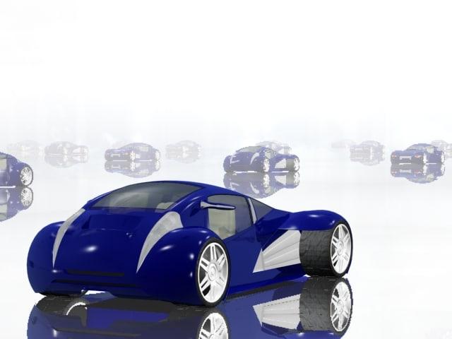 lexus minority report car interior 3d 3ds