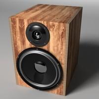 loudspeaker 3d model