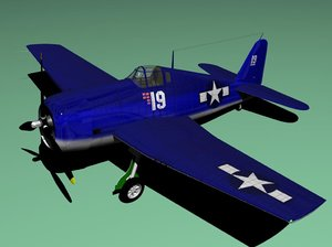 3ds max hellcat airplane
