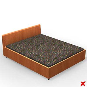 free bed furniture 3d model