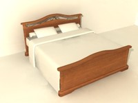 old stile bed 3d model