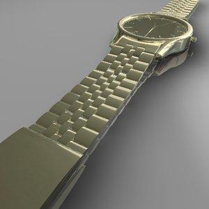 watch gold 3d 3ds