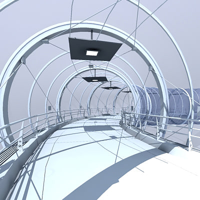 glass tunnel 3d max