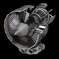 aircraft engine jet-3ds