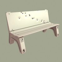 bus stop bench 3d max